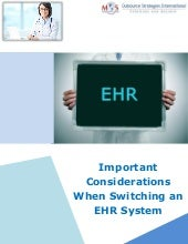 Important Considerations When Switching an EHR System