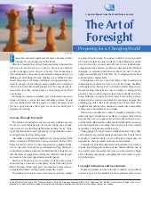Art of foresight