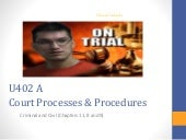 U402 a court processes and procedures (working progress)