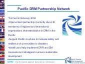 Pacific DRM Partnership Network