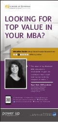 "UAlbany Weekend MBA ""Looking for Top Value in Your MBA"" Ad-April 5-11, 2013 Business Review"