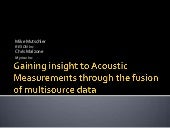 Gaining insight to Acoustic Measure...