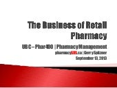UBC Phar400 Business of Retail Phar...