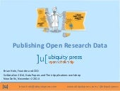 Publishing Open Research Data
