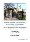 UCAS Guide for Economics from Geoff Riley