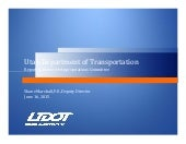 UDOT Capacity Projects and Maintenance Funding