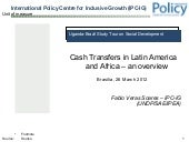 Cash Transfers in Latin America and...