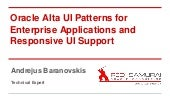 Oracle Alta UI Patterns for Enterprise Applications and Responsive UI Support
