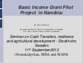 Basic Income Grant Pilot Project in...