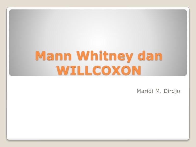 Perhitungan manual mann whitney