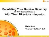 Populating your domino directory or...