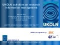 UKOLN activities on research information management