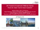 UKTI Clean Tech Webinar Presentation