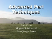 Advanced Perl Techniques