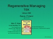 Kim C Korn & Human Centric Management: Regenerative Managing for a digitalizing world