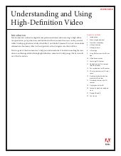 Understanding and Using High-Definit...