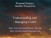 Understanding And Managing Credit