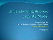 Understanding android security model
