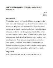Understanding federal and state courts
