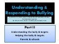 Understanding & Responding to Bullying Part II