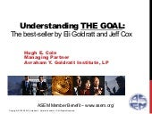 Understanding THE GOAL: The best-seller by Eli Goldratt and Jeff Cox