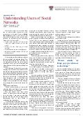 Understanding  Users Of  Social  Networks  Harvard  Business  Review