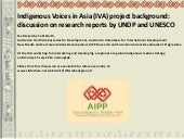 Indigenous Voices in Asia (IVA) pro...