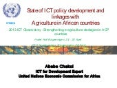 UNECA- State of ICT policy and link...