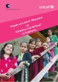"Impact of Migration on ""Children left behind"" in Tajikistan"
