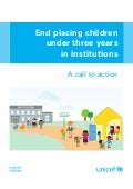 End placing children under three years in institutions