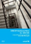 UNICEF Guidance note on juvenile justice programming in the CEE/CIS region