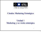 Unidad 1   Marketing Estrategico