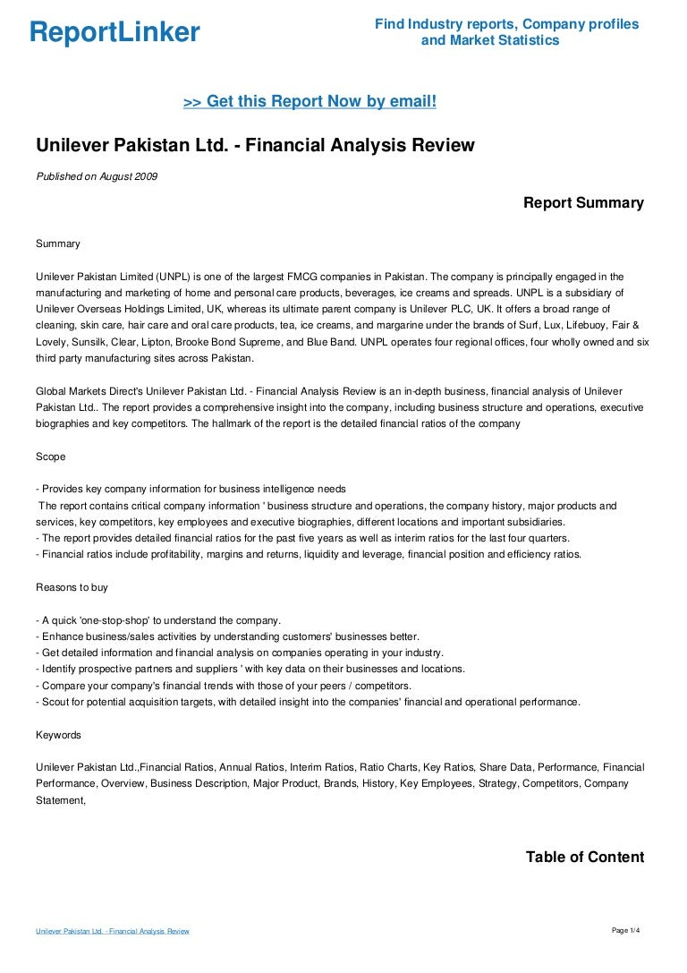 financial analysis essay