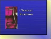 Unit 5 Part 1 - Chemical Change