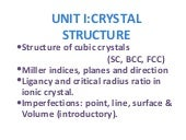 Unit i-crystal structure
