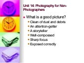 Unit 14 Photography For Non Photogr...
