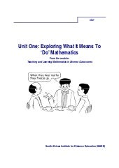Ace Maths Unit One: Exploring What ...