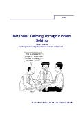 Ace Maths Unit Three: Teaching Through Problem Solving (pdf)