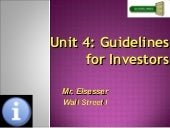 Unit 4: Investments Notes