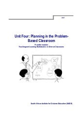 Ace Maths Unit Four: Planning in th...
