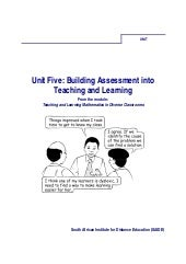 Ace Maths Unit Five: Assessment Int...