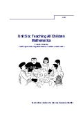 Ace Maths Unit Six: Teaching All Children Mathematics (pdf)