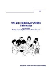 Ace Maths Unit Six: Teaching All Ch...