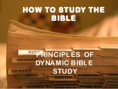 How to study the bible - Pastor Jos...