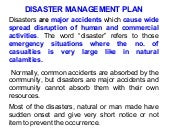 Unit7 disaster mgmt plan