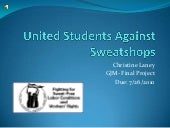 United students against sweatshops ...