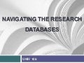UNIV 106: Searching Databases