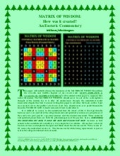 UNIVERSAL MATHEMATICAL MATRIX: How was it created?