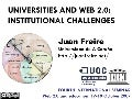 Universities and web 2.0: Institutional challenges