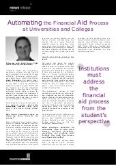 Automating the Financial Aid Process at Universities and Colleges - Keith Myers, Socle Education